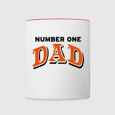 Number one Dad - Contrast Coffee Mug