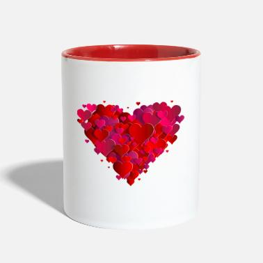 Heart Hearts in heart - Two-Tone Mug