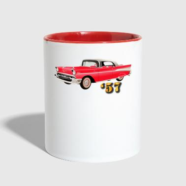 Vehicle - 57 Chery - Red - Contrast Coffee Mug