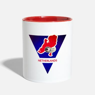 Netherlands continents and countries: Netherlands - Two-Tone Mug