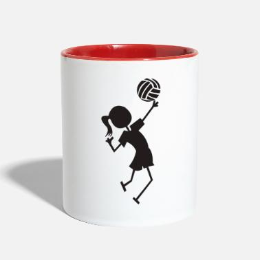 Volley Volley ball girl - Two-Tone Mug