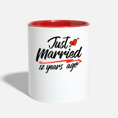 Marry Just Married 12 Year Ago Funny Wedding - Two-Tone Mug