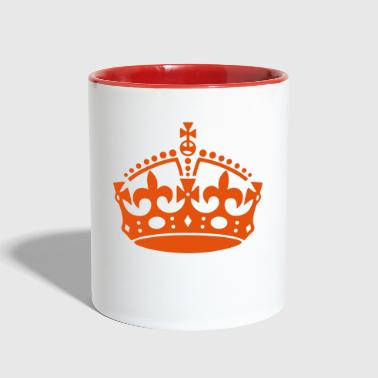 Crown keep calm - Contrast Coffee Mug