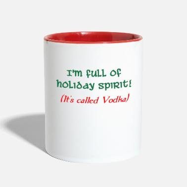 holiday spirit vodka - Contrast Coffee Mug