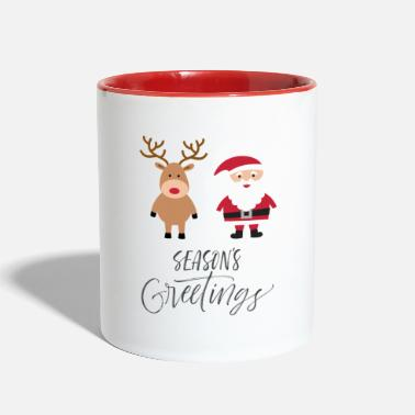 Greeting Greetings - Two-Tone Mug
