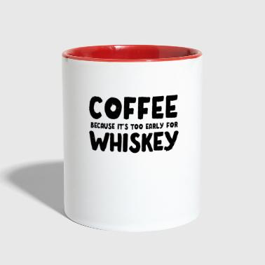 Wiskey Funny Coffee Wiskey Morning Caffeine Alcohol gift - Contrast Coffee Mug