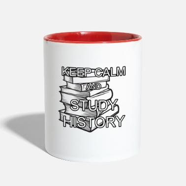 Books KEEP CALM And STUDY HISTORY - Two-Tone Mug