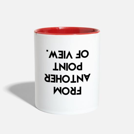Cool Mugs & Drinkware - Quotes - Two-Tone Mug white/red