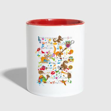 Concert of Animals - Contrast Coffee Mug