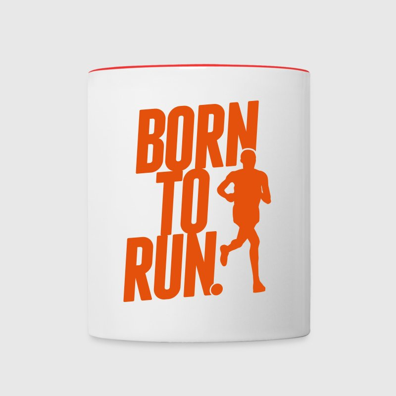 Born to run - Contrast Coffee Mug