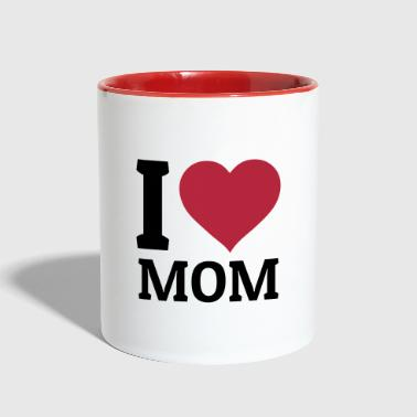 I love Mom - Contrast Coffee Mug