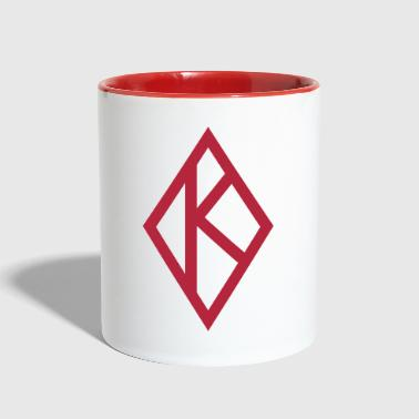 Kappa Diamond - Contrast Coffee Mug