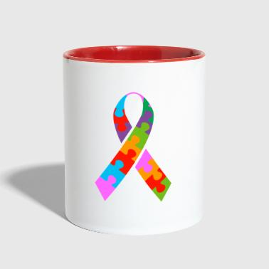 Autism Ribbon - Contrast Coffee Mug