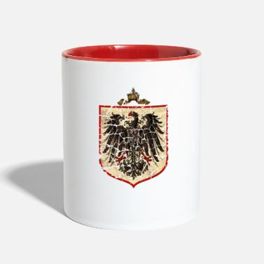 German-eagle German Imperial Eagle, Distressed - Contrast Coffee Mug