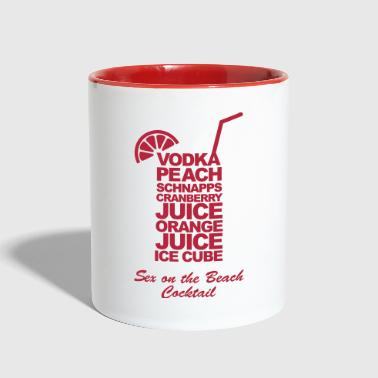Sex on the beach cocktail - Contrast Coffee Mug