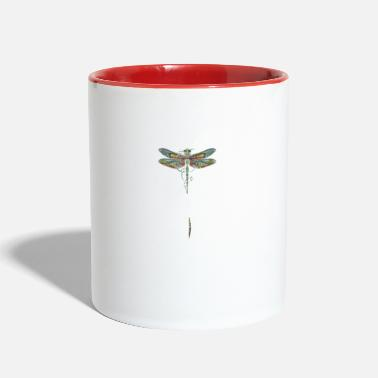 Wisdom Dragonfly whisper words of wisdom let it be - Two-Tone Mug
