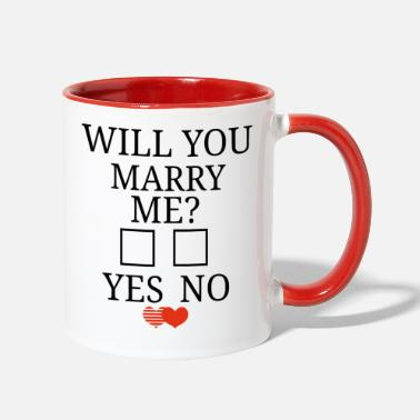 Cute Idea marry me marriage proposal cute proposal - Two-Tone Mug