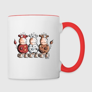 Funny Colourful Cows - Contrast Coffee Mug