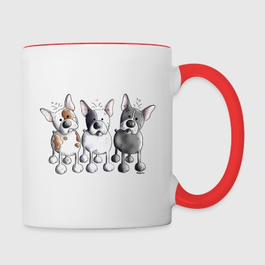 Three French Bulldogs - Bulldog - Dog - Contrast Coffee Mug