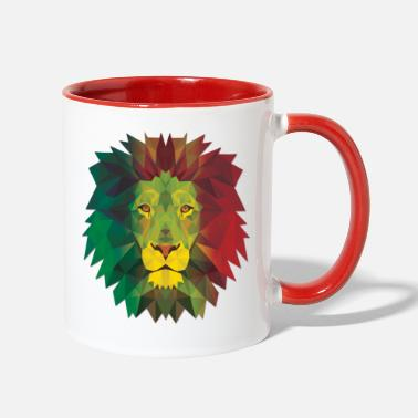 Rasta Rasta Lion - Two-Tone Mug