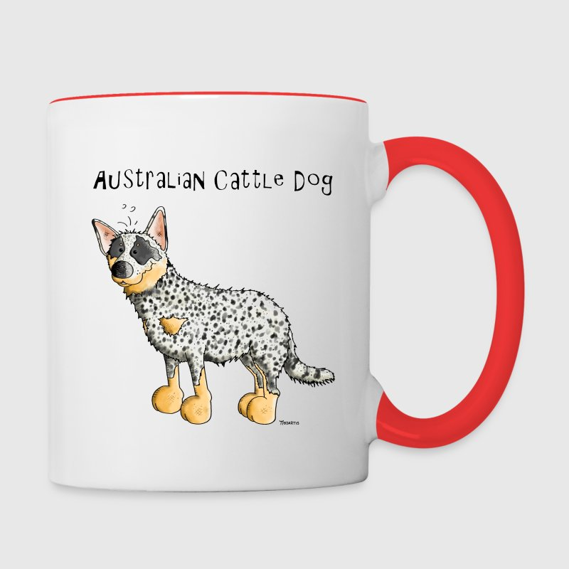 Cute Australian Cattle Dog - Dogs - Contrast Coffee Mug