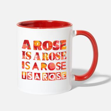 Rose a rose is a rose - Two-Tone Mug