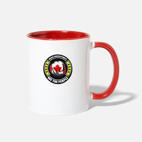Labrador Mugs & Drinkware - Yellow Vests Canada - Two-Tone Mug white/red