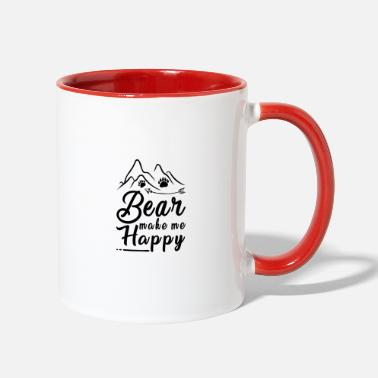 Teddy Bear Make Happy - Two-Tone Mug