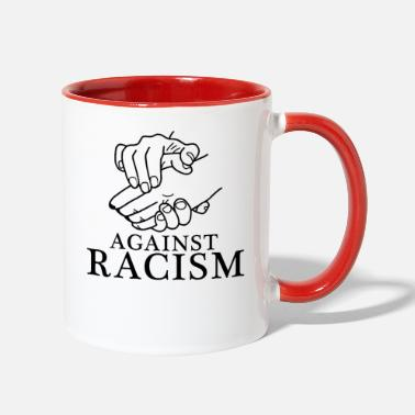 Against Against Racism - Contrast Coffee Mug