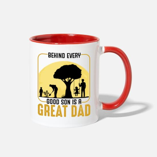 Father And Son Mugs & Drinkware - Father And Son - Two-Tone Mug white/red