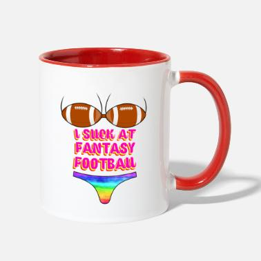 Fantasy Funny Football I Suck At Fantasy Football - Two-Tone Mug