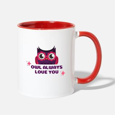 Occasion Owl Valentine's Occasion - Two-Tone Mug