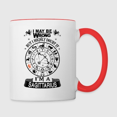 I AM A SAGITTARIUS - Contrast Coffee Mug