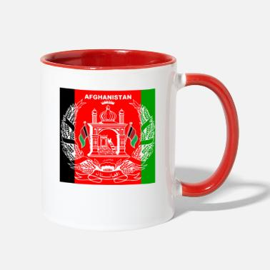 Cover Afghan Logo-Flag Colors - Two-Tone Mug