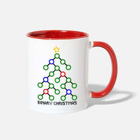 Gift Idea Mugs & Drinkware - binary xmas - Two-Tone Mug white/red
