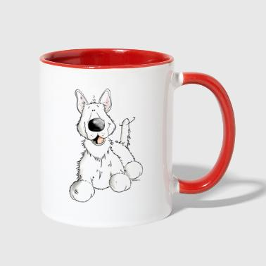 White German Shepherd Dog - Breed - Dogs - Contrast Coffee Mug