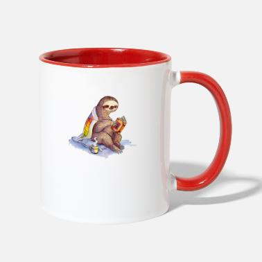 Cozy Cozy Sloth - Contrast Coffee Mug