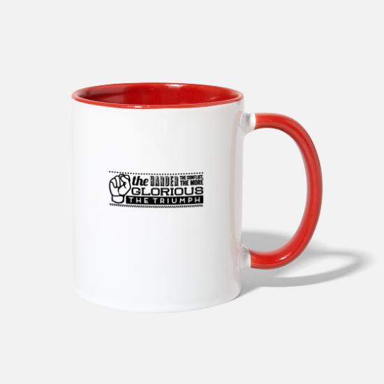 Triumph Mugs & Drinkware - The glorious the triumph - Two-Tone Mug white/red