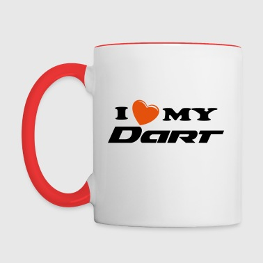 I heart my Dart - Contrast Coffee Mug