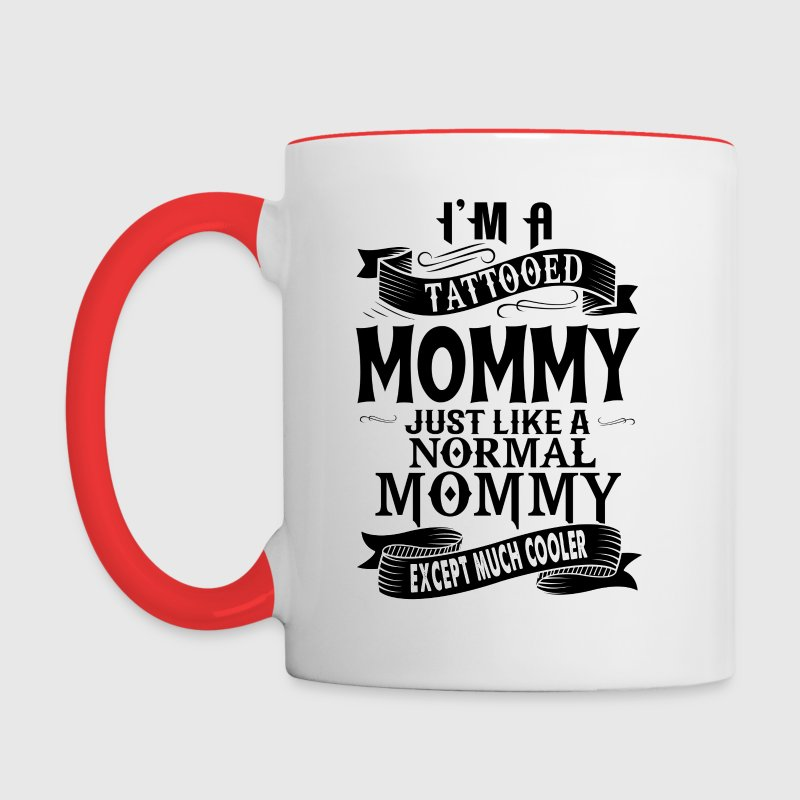 TATTOOED MOMMY - Contrast Coffee Mug
