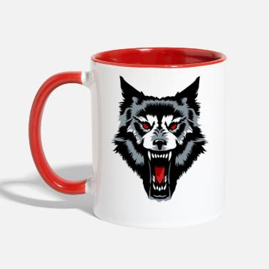 Wolf Alpha Wolf Head - Contrast Coffee Mug