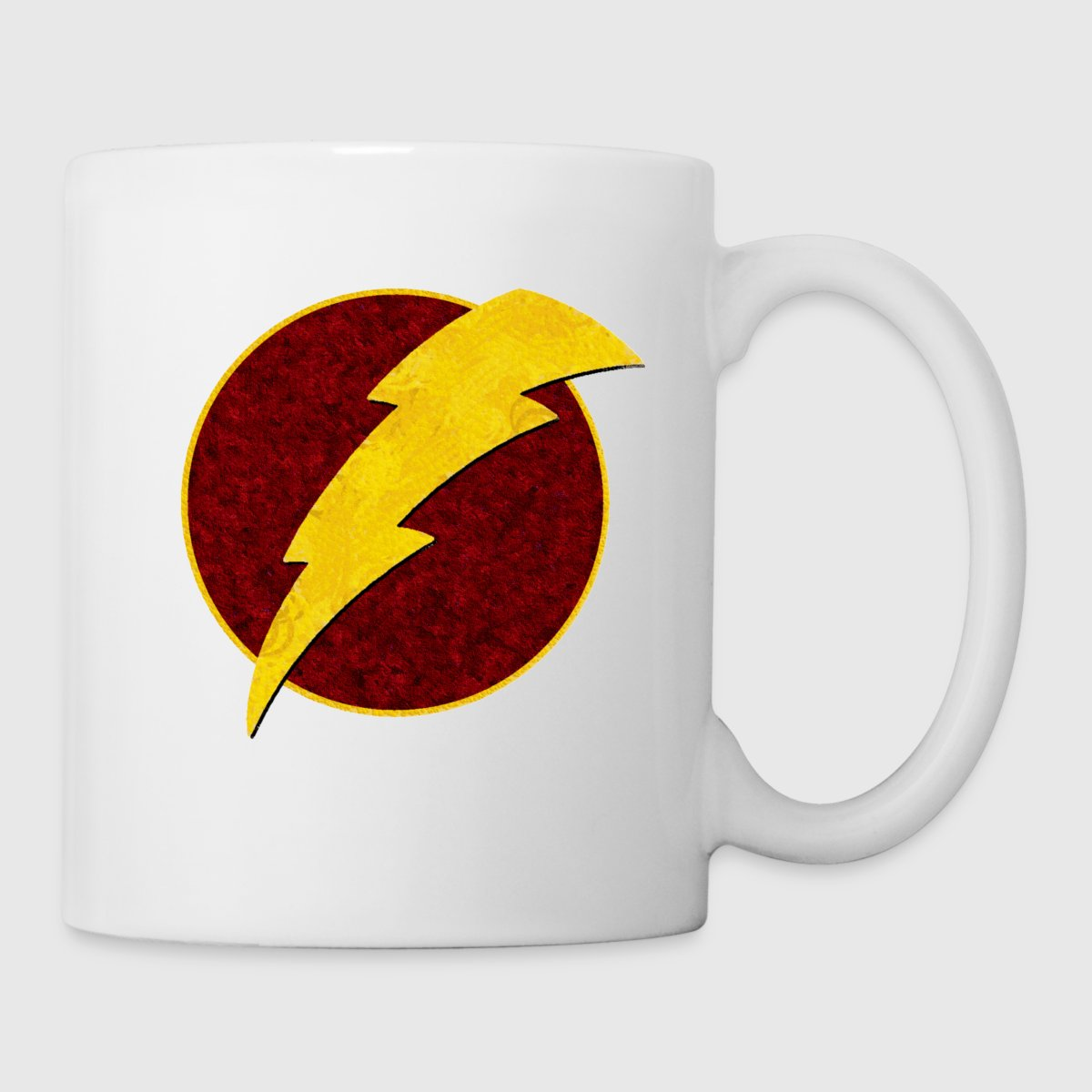 Retro super hero lightning bolt mug spreadshirt buycottarizona Image collections