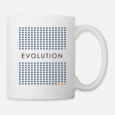Light Minimalist design: evolution (light background) - Coffee/Tea Mug