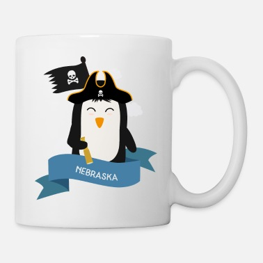 Boats Penguin Pirate Captain from NEBRASKA Gift - Mug