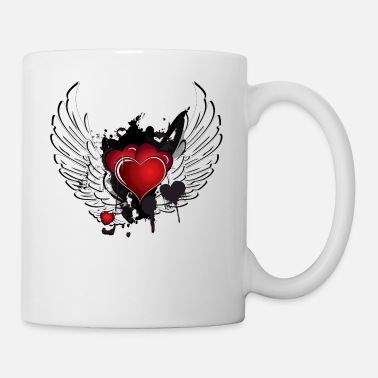 Heart With Wings Winged Heart - Coffee/Tea Mug