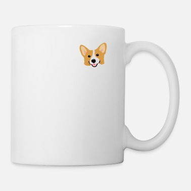 Puppy Corgi In Pocket Funny Cute Puppy Big Happy Smile - Coffee/Tea Mug