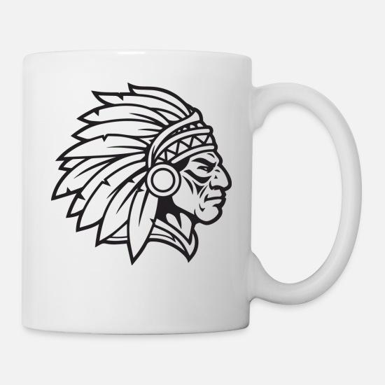 Indian Chief Mascot Cherokee Mascot Warrior Brave Mug | Spreadshirt