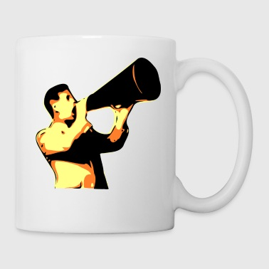 man yelling - Coffee/Tea Mug
