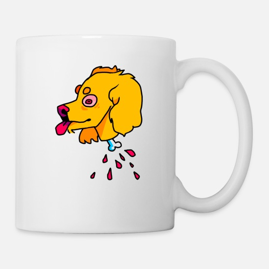 Fur Mugs & Drinkware - pup - Mug white