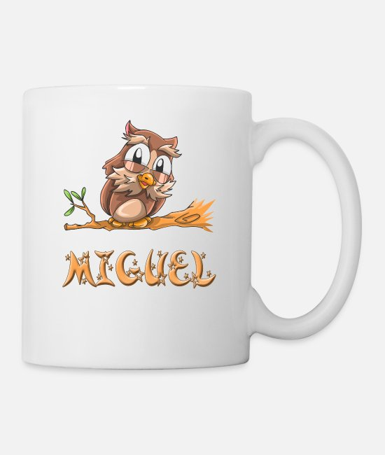 Miguel Birth Mugs & Cups - Miguel Owl - Mug white